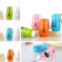 Wholesale Penguin Mug - High quality New Penguin Water Bottle Stainless Steel Double Layer Tumblers Cute Cup Travel Mugs IC701