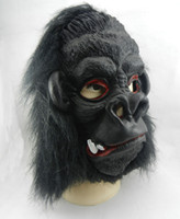 Wholesale Adult Orangutan - Halloween Mask Latex Mask Big Ears King Kong Orangutan Mask Blooding Ghost Cosplay Costumes Realistic Silicone Masks Masquerade