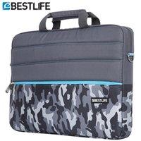 Wholesale Tablet Case Shoulder - Wholesale- BESTLIFE Waterproof Computer laptop handbag crossbody bag Briefcase Case Camouflage Shoulder Messenger Canvas Bag tablet package