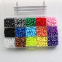 Wholesale 3d Free Bead Toys - Wholesale- 5MM Perler Hama Beads 2000pcs 15 Colors Box Set Perler Beads Fuse Beads wholesale and retail educational toys Free Shipping