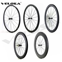 Wholesale 24mm Carbon Wheels - Outlet 700C road bike Carbon Wheels 24mm 38mm 50mm 60mm 88mm Tubular Clincher Super Light Carbon Wheelset