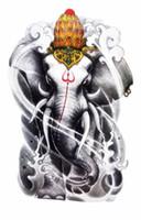 Wholesale God Elephant - Wholesale- Body Art Beauty Makeup Holy India Elephant God Waterproof Temporary Tattoo Stickers Sexy