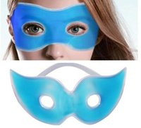 Wholesale Ice Cold Gel Eye Mask - Therapeutics Soothing Beauty Eye Mask Reusable Ice Cold Gel Eye Mask Relaxes Tired Eyes Diary Cool Protective Eyes Pouch MYY