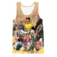 Оптовое классическое аниме Dragon Ball Z t рубашки Tank Top Kid Goku / Luffy / <b>Cute Chopper</b> / Naruto / Zoro Paparazzi 3D майка Жилет Танк Топы