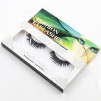 Wholesale Natural Look Eyelashes - New Fashion False Eyelashes Handmade Natural Look Hair Black Long Thick Eyelashes Fake Eye Lashes Extensions Cosmetic Makeup Reusable Lashes