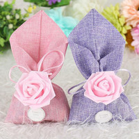 Wholesale European Flowers Favors - European Style Rose Flower Decoration Wedding Favors Candy Boxes Gifts Box Candy Bags Bridal Shower Gift Box ZA3707