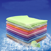 Wholesale Cool Ice - 2017 Magic Cold Towel Exercise Fitness Sweat Summer Ice Towel Outdoor Sports Ice Cool Towel Hypothermia 90x30cm Cooling Towels XL-G105