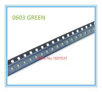 Wholesale White Smt Led - Wholesale- 100pcs 0603 Green color SMD SMT Super Bright lamp LED lights light-emitting diodes High quality