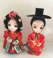 Wholesale Ethnic Craft Gift - Ethnic dolls pure arts and crafts Beijing silk Q version of adorable baby wedding decorations birthday gift