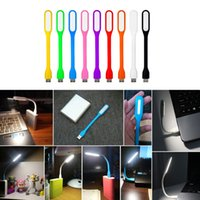 Atacado - no estoque! 10 Pcs Efficient Flexible USB LED Light Lamp para Computador Laptop de leitura
