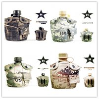 Wholesale Tactical one litre kettle camouflage thermal insulation kettle lunch box three piece outdoor camping or survival