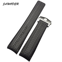 Wholesale Rubber Formula - JAWODER Watchband 24mm Black Diver Silicone Rubber Curved End Watch Band Strap with Stainless Steel Deployment Clasp for Formula One Series