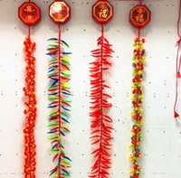 Wholesale decorative gun for sale - Group buy Opening celebration decorative guns bamboo lights led electronic firecrackers string lights with sound simulation firecrackers AC110v v