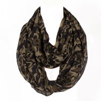 Wholesale Multicolor Winter Scarfs - 2017 Winter Scarf Military Hunting Camouflage printing Style Ring Loop Scarf Soft Warm Scarves outdoors Multicolor