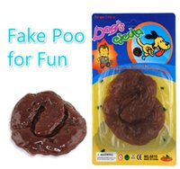 Wholesale Blister Toy Packaging - Free Ship 10 Pieces Funny Fake Poo Toy Sticky Shit GIANT FAKE TURD Funny Trick Poo Joke Gag Toy OPP Bag   Blister Package