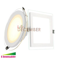 Wholesale Led Downlights Crystal - New Round Square LED Crystal Panel Light 6W 9W 12W 18W 24W Recessed Dimmable LED Ceiling Downlights