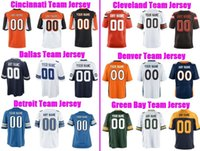 Wholesale Denver Football Jerseys - Custom Football Jerseys Cincinnati Cleveland Dallas Cowboys Denver Broncos Detroit Lions Green Bay Throwback Stitched Jersey Men Women Youth