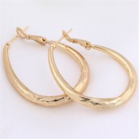 Wholesale nice birthday party - Women Charm Jewelry Fashion Earrings 18K Yellow Gold Plated Fashion Personality Hoops Earrings for Party Nice Birthday Gift ER-955