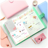 Wholesale Calendar Notebook - Wholesale- Free shipping 2017 calendar books this notebook billbook stationery thickening befriend daily memos cute organizer planner
