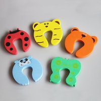 5 couleurs Door Stopper Animal Baby Security Card Protection Outils Baby Safety Gate Products Recons néo-coccinelle tigre vert papillon