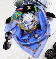Wholesale Women Ladies High Quality Horse Colt Twill Silk Scarf Square Shawl Wrap x90cm UPS TNT Express