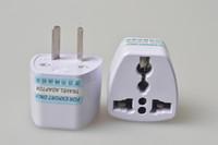 Wholesale jack plug charger - Compact Portable Universal Small AC Power Charger Plug Travel Adapter Convenient Power Converter US EU UK AU Adaptor Wall Socket Jack