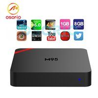 Mini M95 Boîtes Android Amlogic S905X Quad Core IPTV 1 Go / 8 Go OTT TV Box 3D Smart 4K media et Game Player