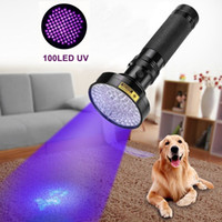 Wholesale Anti Ultraviolet - ALONEFIRE Aluminum Shell Ultraviolet light For 6xAA Anti-fake UV 100 LED UV Flashlight Money Detector