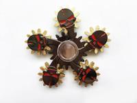 metal dişli oyuncakları toptan satış-Yeni varış Fidget Spinners EDC metal kafatası El Spinner Oyuncaklar 5 Dişli Zinciri Parmak Stres beş Dişliler Tekerlekler parmak Dekompresyon Oyuncak