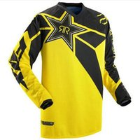 Wholesale cross mountain bikes - Men RockStar Motocross MX jersey Mountain Bike DH Clothes Bicycle Cycling MTB BMX Jersey Motorcycle Cross Country shirts