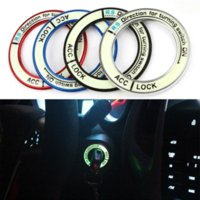 Wholesale toyota corolla accessories online - Luminous alloy Car Ignition Switch cover auto car accessories stickers For TOYOTA COROLLA And LEVIN HA10598
