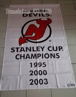 Wholesale Devil Cup - New Jersey Devils 3 Time Stanley Cup Champions flag hot sell goods 3x5 FT 150X90CM Banner brass metal holes NJ03