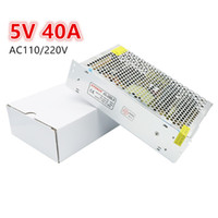 spannungsschalter netzteil großhandel-AC 110V 220V bis DC 5V 40A 200W Spannungswandler Schaltnetzteil für LED-Plakatwand RoHS CE