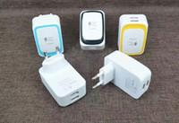 ingrosso caricabatteria da parete dual usb uk-Caricabatteria da muro Dual USB modello Beetle Caricatore rapido adattivo da 2.1A US EU UK Plug IC POWER 100pcs / lot