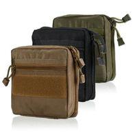 ilk yardım çantası torbaları toptan satış-EDC Kılıfı Bir Dicle Askeri MOLLE EMT Ilk Yardım Kiti Hayatta Kalma Dişli Çanta Taktik Çok Kiti Ücretsiz Kargo