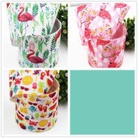 Wholesale 17701 mm Cartoon cotton ribbed bow accessories hairpin diy material bag