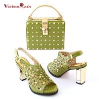 Wholesale Green Shoes Matching Bag - Zapatos Mujer Tacon Shoes High Heel Dames Schoenen Hot Sale Factory Price Usa Woman Heels Matching Bag Italian Shoe And Sets