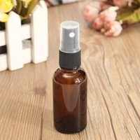 Wholesale Wholesale Containers For Water - Wholesale- Amber Glass Atomizer Bottle 30ML Perfume Water Spray Bottles Vial For Essential Oil Dark Brown Cosmetic Containers