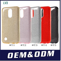 Wholesale pink clear rubber phone case - For LG Tribute Dynasty For LG Aristo 2 Metropcs Ultrafine clear rubber soft glitter stickers TPU phone case protection shell opp packing