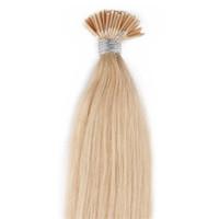 ingrosso estensioni dei capelli umani-613 Biondo che attacca i-tip Estensioni dei capelli umani dritte Estensioni dei capelli pre-incollati brasiliani dei capelli umani 50 grammi Disponibile