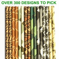 Wholesale Colored Paper Straws - Wholesale-Free DHL Shipping 2000 pcs Pick Colors Paper Straws-Colored Animal Print Camo Patterned Party Paper Drinking Straws Birthday