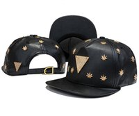 Wholesale Hater Leather Brim Hats - Hot style Hater snapbacks caps hip pop street snap back hats leather brim sport caps metal logo snapback hats the best price