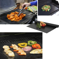Wholesale bbq grill mesh - BBQ Grill Mat Reusable 5pc box Non Stick BBQ Grill Mats 40*33cm Sheet Portable Easy Clean OutDoor Cooking Tool FDA Approved with retail box