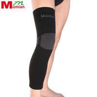 Wholesale Volleyball Knee Protectors - Wholesale- Mumian Elastic Sports long Leg Knee Support Brace Wrap Protector Knee Pads Sleeve Cap Patella Guard Volleyball Knee A06 - 1PCS