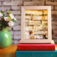 Wholesale Plastics Table For Children - The Little Prince 3D Night Lamp Frame with LED Bedroom Table Desk Wood Light Base Novelty Gift for Children