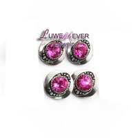 Wholesale Black Metal Earring Hooks - Hot sale Flower 01 12mm Snap Jewelry Rhinestone Metal Snap Buttons Fit 12mm Snap bracelets Earrings necklace For women
