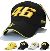 Wholesale Signature White - Star Rossi Signature VR46 Digital Embroidery Baseball Cap Motorcycle Hat Racing Cap Sports Baseball Cap HL016