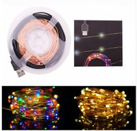 Wholesale Wire Garland Decorations - led string 10M 33FT 100 led Decoration LED Copper Wire Fairy String Lamps for Christmas Holiday Wedding Party Garland Decoration lights