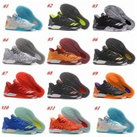 Wholesale Colors Rose Shoes - 2017 Newest Colors D Rose 7 Low Englewood Boost Mens Basketball Shoes Derrick Oreo BHM Bruce Pink 7s Casual Sports Sneakers US 7-12