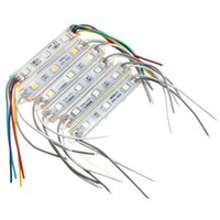 Wholesale High Power Rgb Led Module - Wholesale-Best Promotion High Power Multicolors Waterproof IP68 5050 SMD 3 LED Module LED Strip String Light DC12V